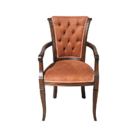 Solid Mahogany Wood Large Optima Arm Chair Antique Reproduction Style