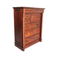 Mahogany Wood Barley Twist Chest of Drawers