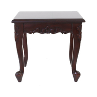 Solid Mahogany Wood Side Table 50cm