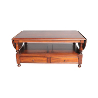Solid Mahogany Wood Large Gate Leg Coffee Table
