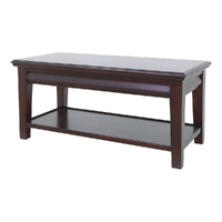 Solid Mahogany Wood Coffee Table with Drawer & Shelf PRE-ORDER