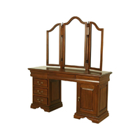 Mahogany Wood Dressing Table & Mirror