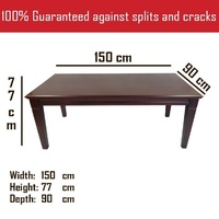 Solid Mahogany Wood Dining Table 1.5m