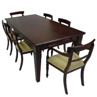 Solid Mahogany Wood Dining Set / Table 2m and Chairs