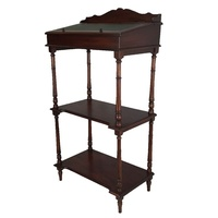 Solid Mahogany Wood Multi Use Shelf and Storage