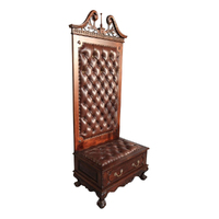 Solid Mahogany Wood Chippendale Hall Stand With Drawer Pre-Order