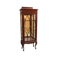 Solid Mahogany 1 Door Display Cabinet / Vitrine