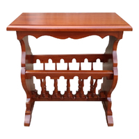 Solid Mahogany Wood Magazine Rack