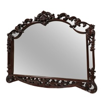 Solid Mahogany Wood Hand Crafted Large Beveled Wall Mirror 150cm