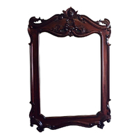 Solid Mahogany Wood Hand Carved Bevelled Large Wall Mirror