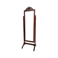Solid Mahogany Timber Victorian Cheval Mirror