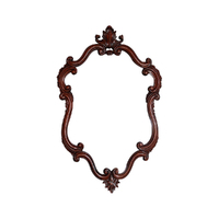 Solid Mahogany Wood Hand Crafted Wall Mirror