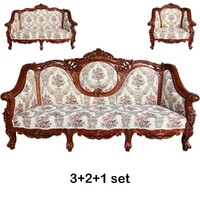Solid Mahogany Classic Large Carved Lounge Set Reproduction/ Pre-Order