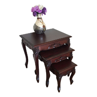 Solid Mahogany Wood Nest / Side Table
