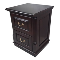Solid Mahogany Wood 2 Drawers Filing Cabinet OD-06_2G