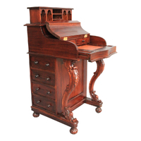 Solid Mahogany Wood Victorian Style Davenport Desk