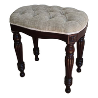 Solid Mahogany Wood Bed End / Hand Crafted Stool