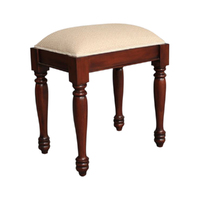 Solid Mahogany Wood Bedroom Stool