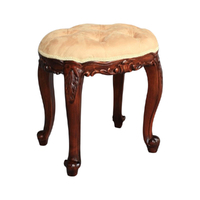 Solid Mahogany Wood Bed End Stool
