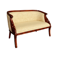 Solid Mahogany Wood 2 Seater Swan Chaise Lounge