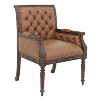 Solid Mahogany Wood Reproduction Office Chair / Classic Chair