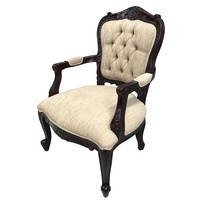 Solid Mahogany Wood French Louis Reproduction Style Sofa Arm Chair SPECIAL