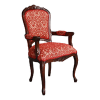 French provincial Style Carved Arm Chair Sofa Solid Mahogany Wood