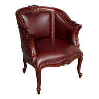 French Provincial Style Arm Chair Sofa Solid Mahogany Wood