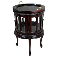 Solid Mahogany Wood Reproduction Round Tea Table