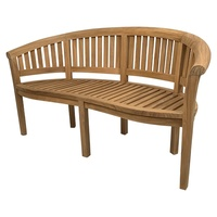Outdoor Furniture Solid Teak Banana Teak Garden Bench