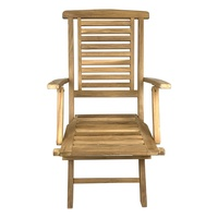 Outdoor Furniture Solid Teak Wood Folding Arm Chair