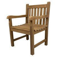 Outdoor Furniture Solid Teak Wood Arm Chair