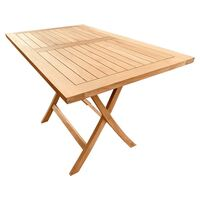 Outdoor Furniture Solid Teak Folding Table Rectangular 120cm