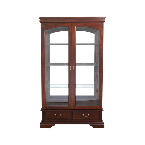 Solid Mahogany 2 Doors Display Cabinet