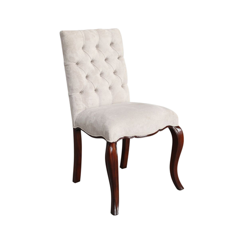 Solid Mahogany Wood Antique Reproduction Style French Dining Chair
