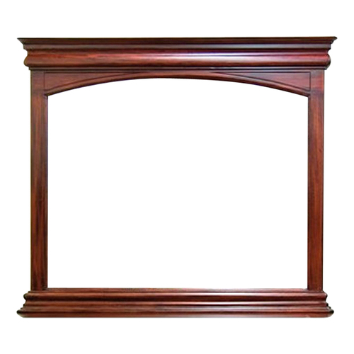 Antique Style Solid Mahogany Wood Bevelled Glass Mirror