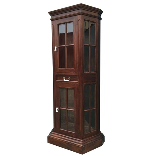 Solid Mahogany Wood Profile Display Cabinet / Bookcase