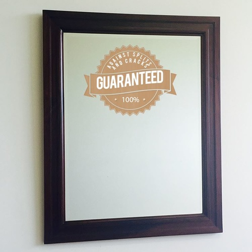 Solid Mahogany Wood Bevelled Glass Mirror 220x100
