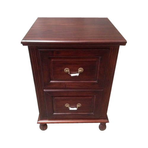 Solid Mahogany Wood 2 Drawers Filing Cabinet