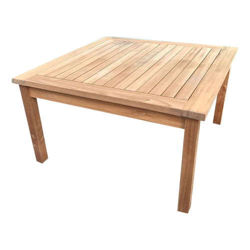 Solid Teak Wood Square Garden Coffee Table - Outdoor Furniture Collection