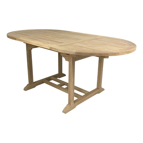 Garden Furniture Teak Oval Outdoor Extension Table 1.8 m